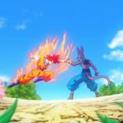 Goku en super saiyen god contre Bills