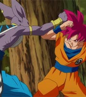 Bills et Goku dans Battle of Gods