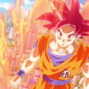 Goku SSJ God dans Battle of Gods